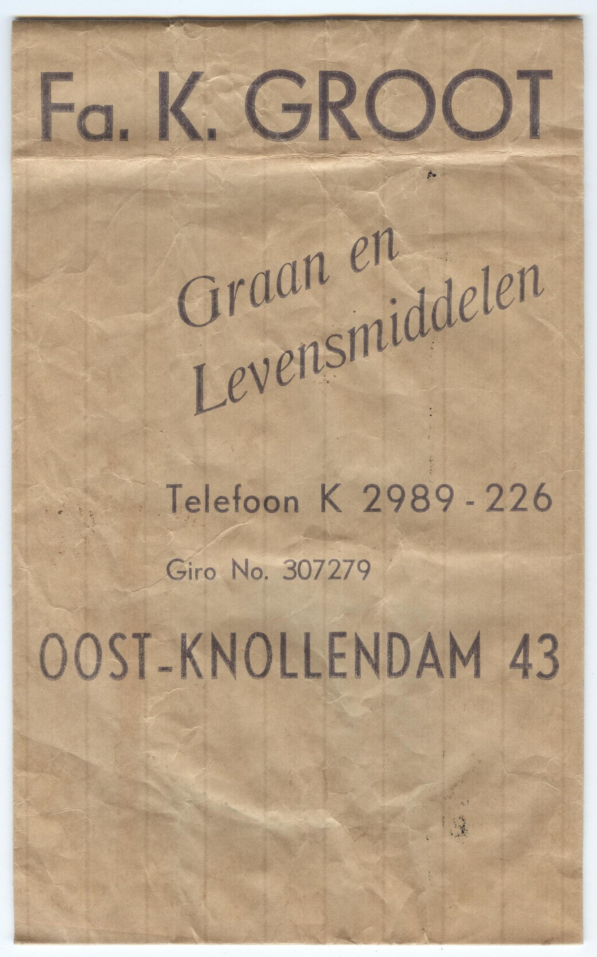 Oostknollendam Papieren zak medio 1920 (002)