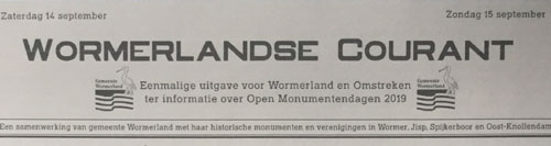 Open Monumentendagen in Wormerland